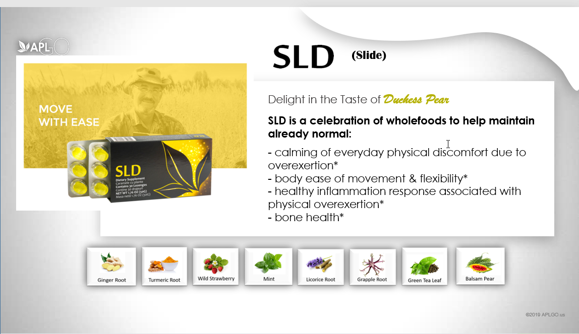SLD tastes like pear and is designed to move with ease